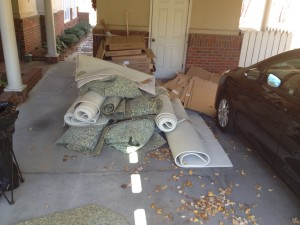 Carpet Removal & Hauling, Cardboard Removal